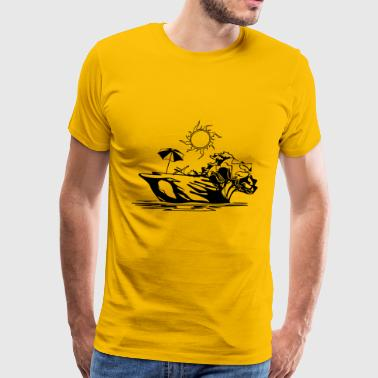 Island vacation sea sun relaxation - Men's Premium T-Shirt