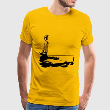 Gothic girl water sea - Men's Premium T-Shirt