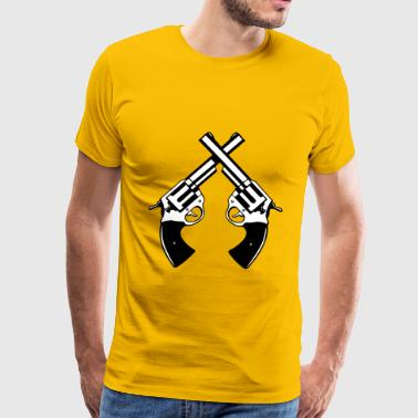 Cross arms pistols - Men's Premium T-Shirt