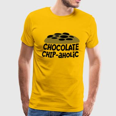 Chocolate Chip Cookie chocolate chipaholic (with choccy chip cookie) - Men's Premium T-Shirt
