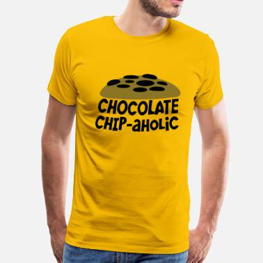 Dough chocolate chipaholic (with choccy chip cookie) - Men's Premium T-Shirt