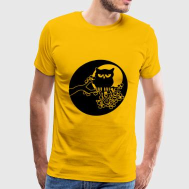 full moon owl ast - Men's Premium T-Shirt