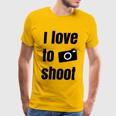 i love to shoot photos - Men's Premium T-Shirt