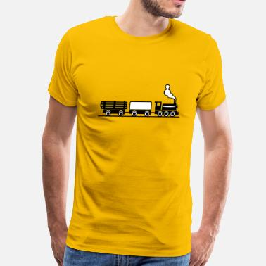 Freight Train dampflok railroad toy freight train - Men's Premium T-Shirt