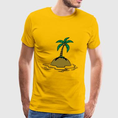 Island holiday palms - Men's Premium T-Shirt
