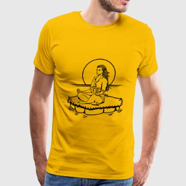 Island yoga relaxation - Men's Premium T-Shirt