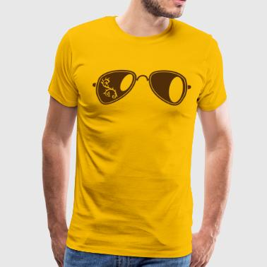 fancy aviator glasses with curly thorns - Men's Premium T-Shirt