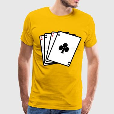 Poker Aces - Men's Premium T-Shirt