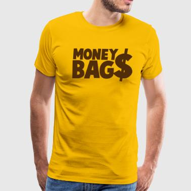 money bags $$$ dollars coin - Men's Premium T-Shirt