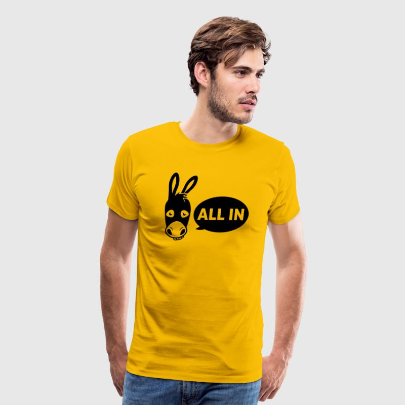 Poker donkey - all in - Men's Premium T-Shirt
