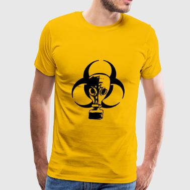 biohazard logo sign symbol toxic virus biological  - Men's Premium T-Shirt