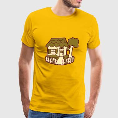 Located in the idyllic fence garden house cottage  - Men's Premium T-Shirt