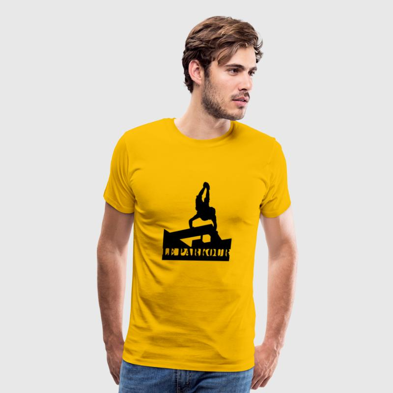 Le Parkour, Traceur, paving the way 2 - Men's Premium T-Shirt