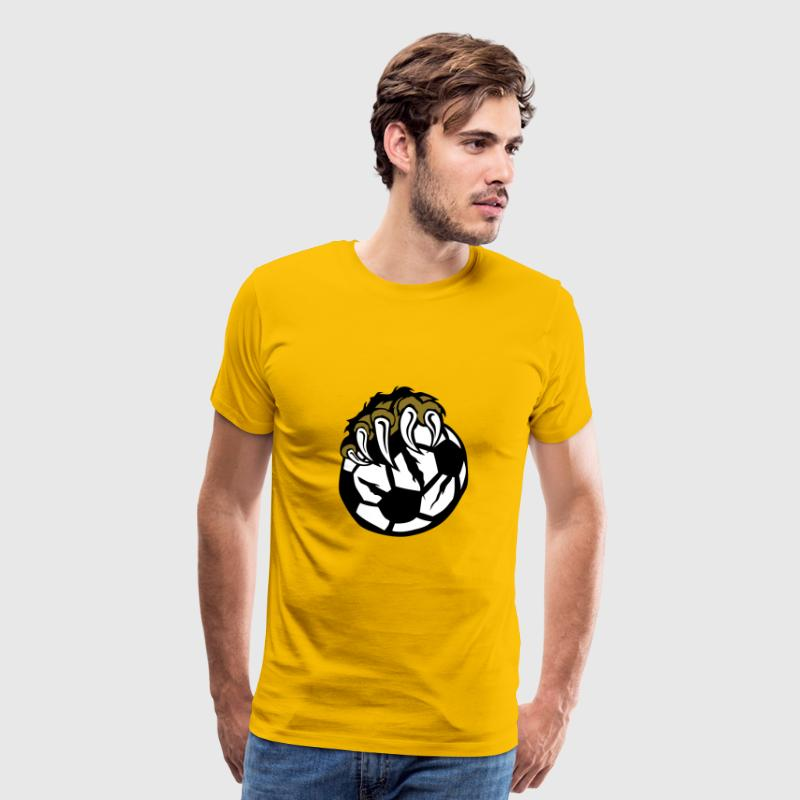 soccer bear paw wild beast claws - Men's Premium T-Shirt