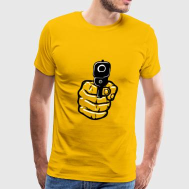 Guns hand gun - Men's Premium T-Shirt