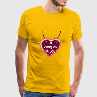 Necklaces i mog di hearts edelweiss flowers ginger - Men's Premium T-Shirt