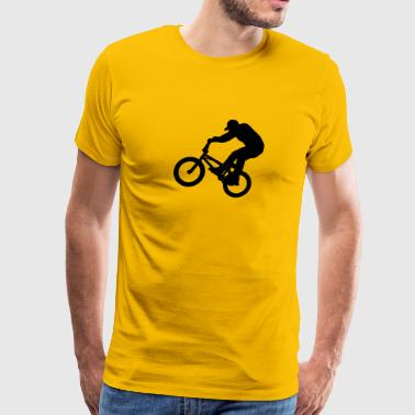 BMX Rider (Vector) - Men's Premium T-Shirt