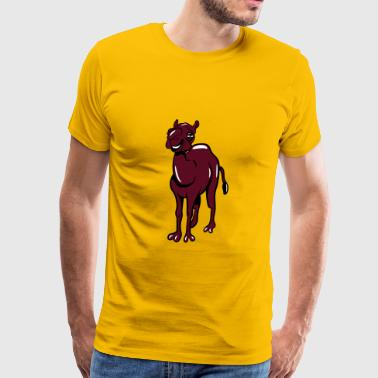 Camel funny laughing funny - Men's Premium T-Shirt