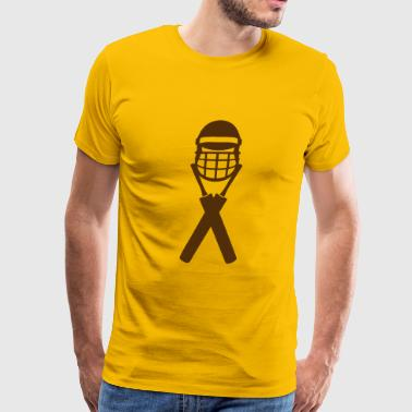cricket bat helmet 1303_logo - Men's Premium T-Shirt