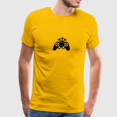 Gamer king Crown true controller logo King 8 bit - Men's Premium T-Shirt