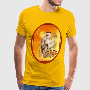 Year Of The Monkey Oval - Men's Premium T-Shirt