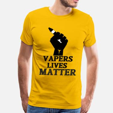 Vape Community Vapers Lives Matter Fist Holding Mod  - Men's Premium T-Shirt