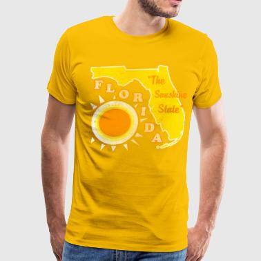 florida, the sunshine state vintage design - Men's Premium T-Shirt