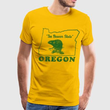 Oregon, The Beaver State vintage design - Men's Premium T-Shirt
