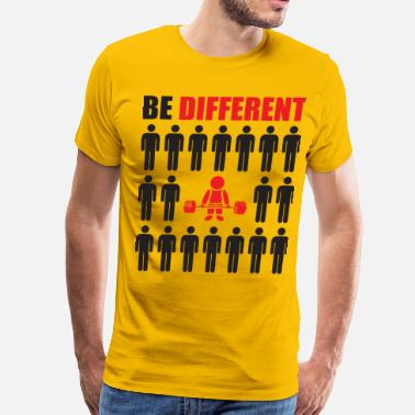 Think Different Be Different (Powerlifter) - Men's Premium T-Shirt