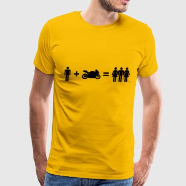 Motorbiker & Women - Men's Premium T-Shirt