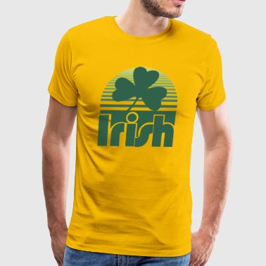 Irish Retro Clover - Men's Premium T-Shirt
