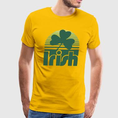Vintage Shamrock Irish Retro Clover - Men's Premium T-Shirt