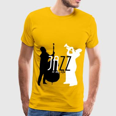 jazz is my life - Men's Premium T-Shirt