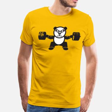 Panda Weight Lifting Weightlifting Panda Bear (Squat) - Men's Premium T-Shirt
