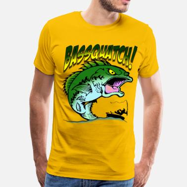 Bass Fish BasSquatch - Men's Premium T-Shirt