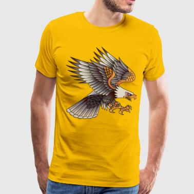 Flying Eagle Eagle in fly - Men's Premium T-Shirt
