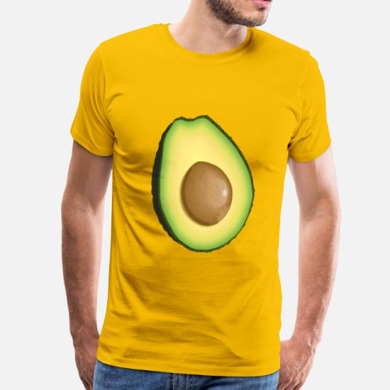 9b43b372bf85 Avocado T-Shirts - Avocado - Men's Premium T-Shirt sun yellow
