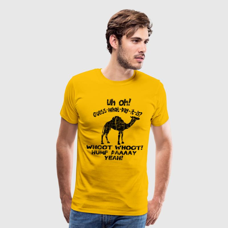 Vintage Hump Day Camel Guess What Day It Is - Men's Premium T-Shirt