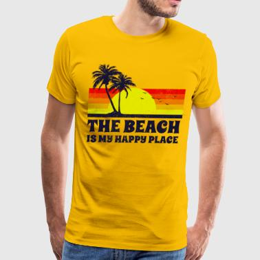 Beach Is My Happy Place - Men's Premium T-Shirt