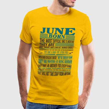 Best selling born in June shirts - Men's Premium T-Shirt
