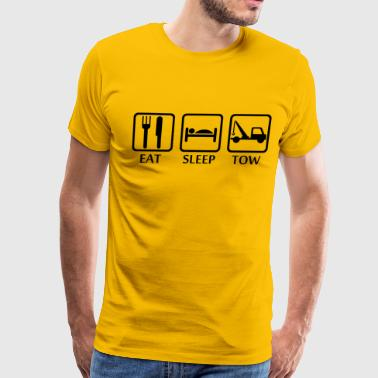 Eat Sleep Tow wrecker_truck_breakdown_recovery - Men's Premium T-Shirt
