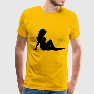 Flaps Fat Mud Flap Girl - Men's Premium T-Shirt