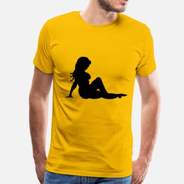 Mud Flap Fat Mud Flap Girl - Men's Premium T-Shirt