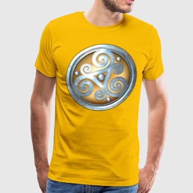 Triskelion Gold Celtic Triskelion - Men's Premium T-Shirt
