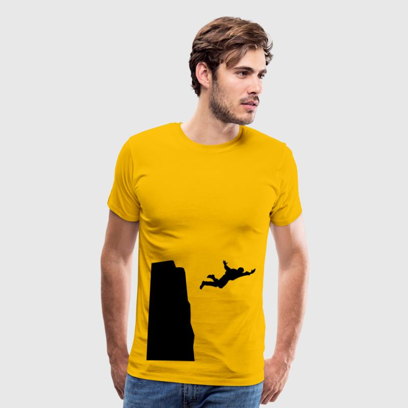 Base jumping Silhouette - Men's Premium T-Shirt