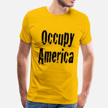 Wall Street Greed Occupy America - Men's Premium T-Shirt