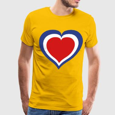 Heart in a Heart in a Heart - Men's Premium T-Shirt