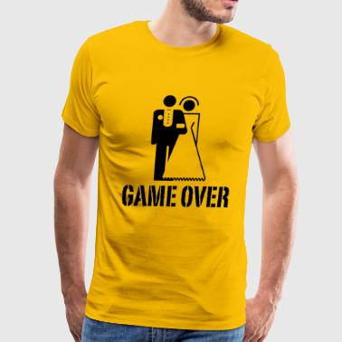 Bride And Groom Game Over Game Over Bride Groom Wedding - Men's Premium T-Shirt