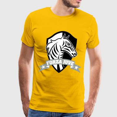 ZEBRA FORZA JUVE (COME ON JUVE)!!! - Men's Premium T-Shirt