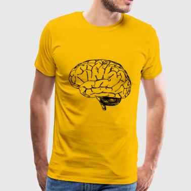 just_brain_outlin - Men's Premium T-Shirt